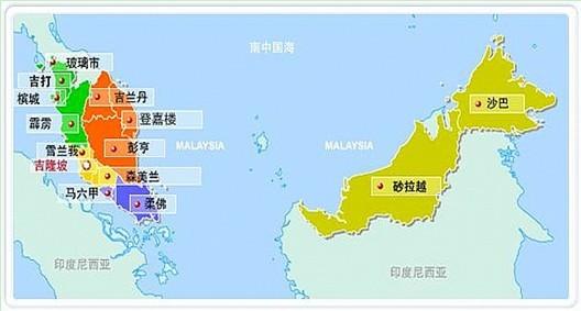 马来西亚地图图片