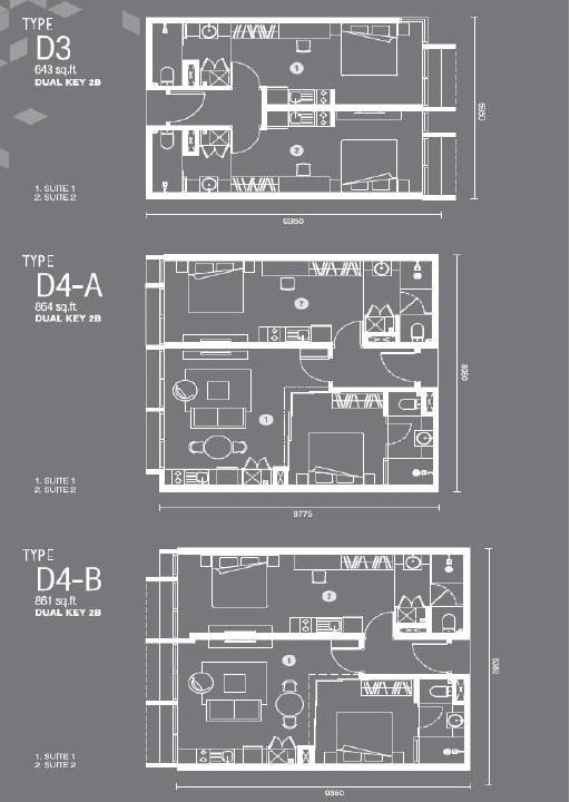 吉隆坡Expressionz公寓户型图